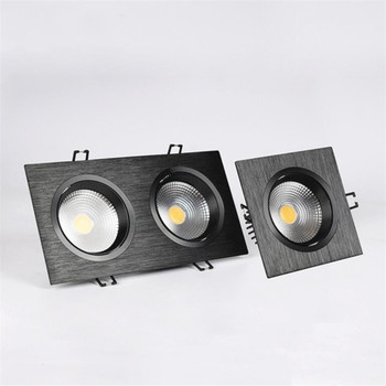 цены LED Dimmable COB Downlight  10W/Double 2x10W Recessed LED Ceiling light Spot Light Lamp AC110V/220V Cold white/White/Warm white