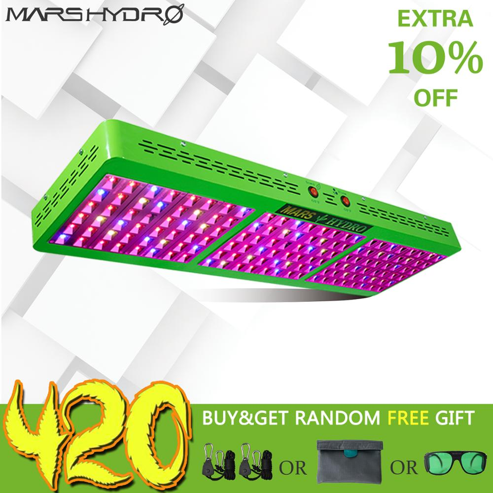 Mars Hydro Reflector 800W LED Grow Light Full Spectrum Switchable Growth Bloom for Hydroponic Grow Tents