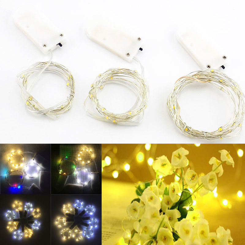 10 20 30 Led Strip Light Battery Operated Led Copper Wire String Fairy Lights For Outdoor Garland Christmas Wedding Decoration Led Strips Aliexpress