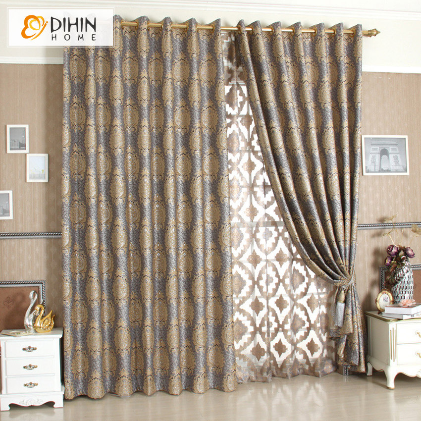 DIHIN 1 PC Luxury Fashion Curtains For Living Room Window Shades Drapes Curtain In From Home Garden On Aliexpress