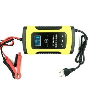 Image 2 - たわしウォッシュクリーニングツール 12 v 5A スマート鉛酸バッテリー充電器パルス修理充電器 lcd ディスプレイ