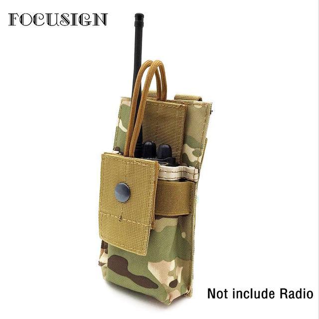 חדש מכירה לוהטת חיצוני מתכוונן רדיו מחזיק מותן חגורת תיק טקטי צבאי נרתיק פתוח למעלה מותן פאוץ תיק מכשיר קשר