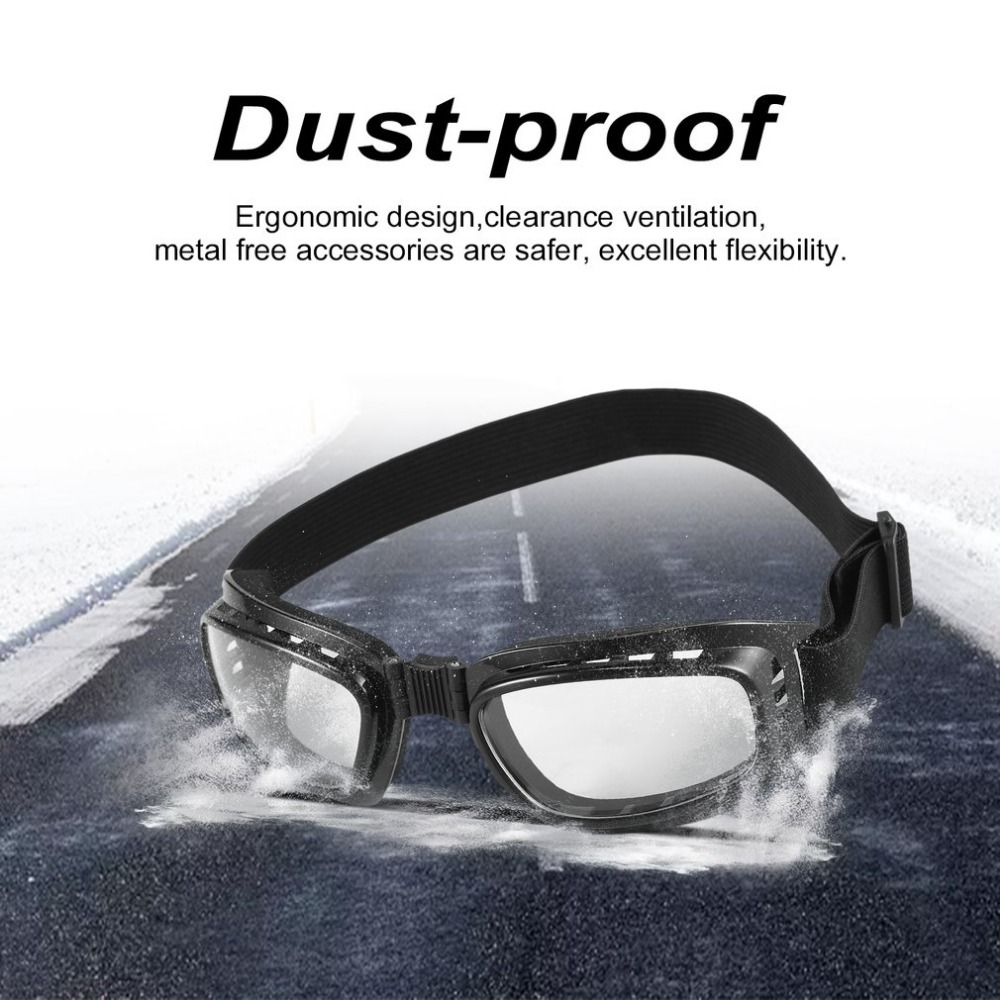 Safety Goggles Foldable Vintage Motorcycle Glasses Windproof Goggles Ski Snowboard Glasses Off Road Racing Eyewear Dustproof