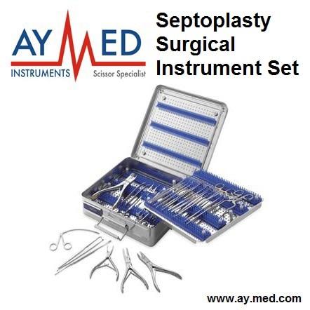 Premium Quality Septoplasty Surgical Instrument Set - Surgical Surgery Scissors Set dual color bonded surgical instrument 2 tone superheavy wraps 45x45