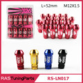 M12x1.5 Hight Quality 326 Power Racing Wheel Lug Nuts L=52mm 20pc/Pack  RS-LN017