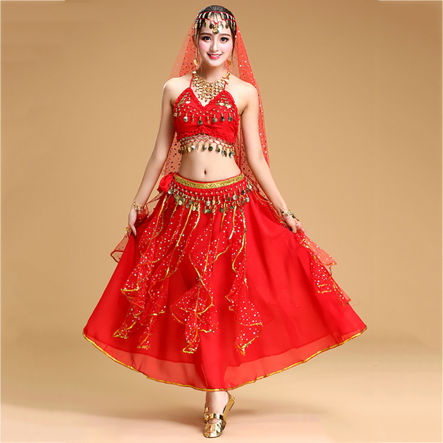 Height Quality Belly Dance Suits For Ladies Yellow Blue Red Costume