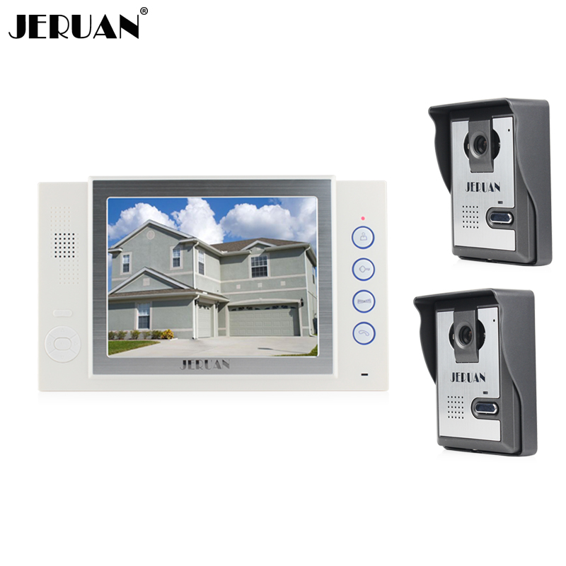 JERUAN Home security system 2 outdoor 1 indoor with recording photo taking 8 inch video door phone doorbell intercom system jeruan home security system 2 outdoor 1 indoor with recording photo taking 8 inch video door phone doorbell intercom system