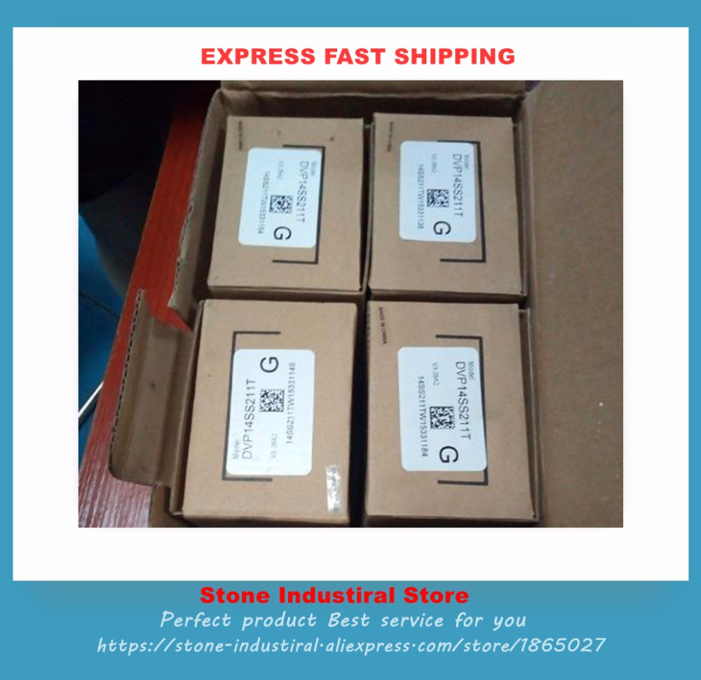 DVP14SS211T SS2 series PLC 24VDC 8DI 6DO Transistor output NPN PLC New In Boxed *1PCS new original dvp14ss211r plc ss2 series 24vdc 8di 6do relay output standard 1 year warranty in box