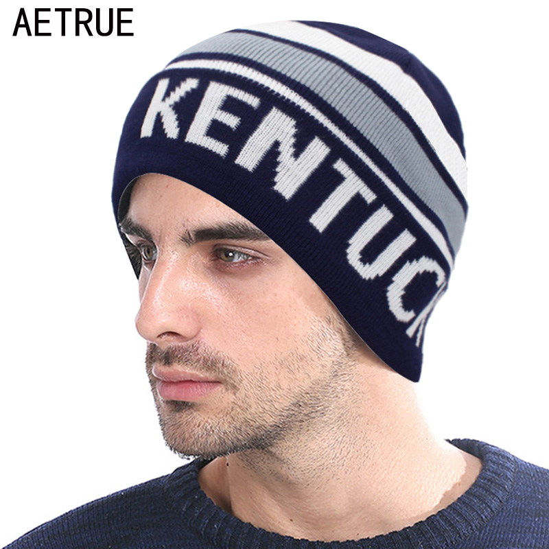 AETRUE Beanie Knitted Hat Men Winter Hats For Women Fashion Skullies Beaines Bonnet Brand Mask Casual Warm Soft Skull Caps Hat