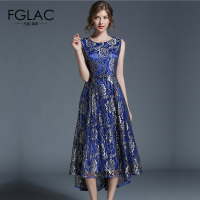 FGLAC Women dress New Arrivals 2018 Summer lace dress Fashion Casual sleeveless Vestidos hollow out lace summer dress