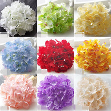30p Artificial Hydrangea Flower Heads 6.7 Plastic Flowers 54 petal/Hydrangea Head for Wedding Party Centerpieces Floral Decor