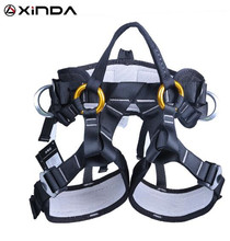XINDA Camping Safety Belt Harness Aerial Equipment Outdoor Hiking Rock Climbing Half Body Waist Support outdoor climbing safety belts safety equipment harness climbing belt waist safety fashion solid belt 500kg high quality gm1413