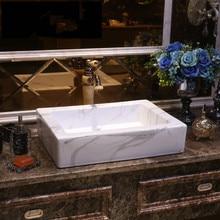 Gris estilo antiguo, Europeo lavabo artístico de China Lavobo cerámica redondo Coutertop lavabo en el cuarto de baño lavabo Rectangular