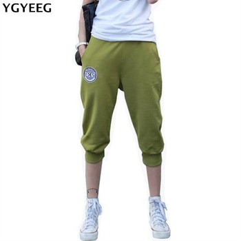 YGYEEG High Elasticity Women Capris Pants Summer 2020 Plus Size Casual For Women Slim Elastic Cotton Candy Capris Women Pants фото