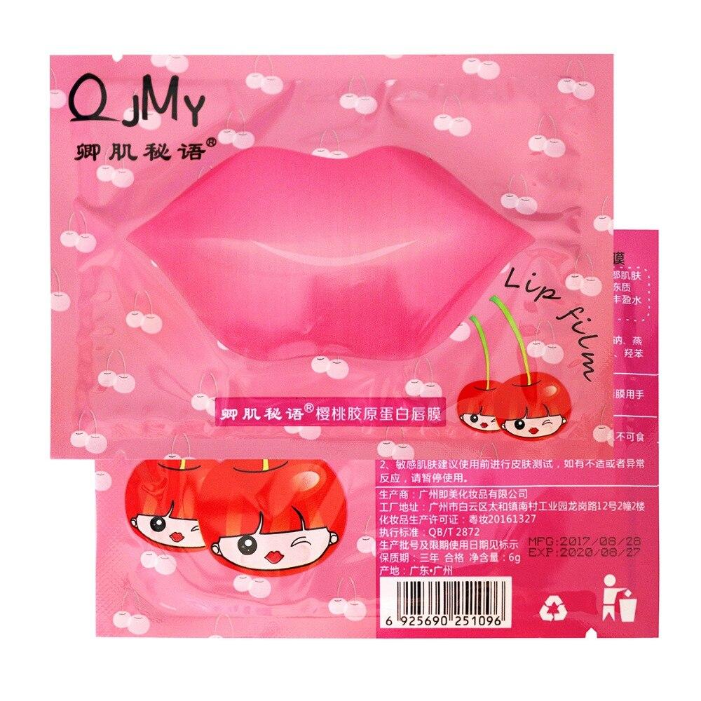 10pcs/lot Pink Lip Membrane Moisturizing Lip Film Paste Abundance Hyaluronic Plumping Moisturising Soothing Collagen Lip Mask