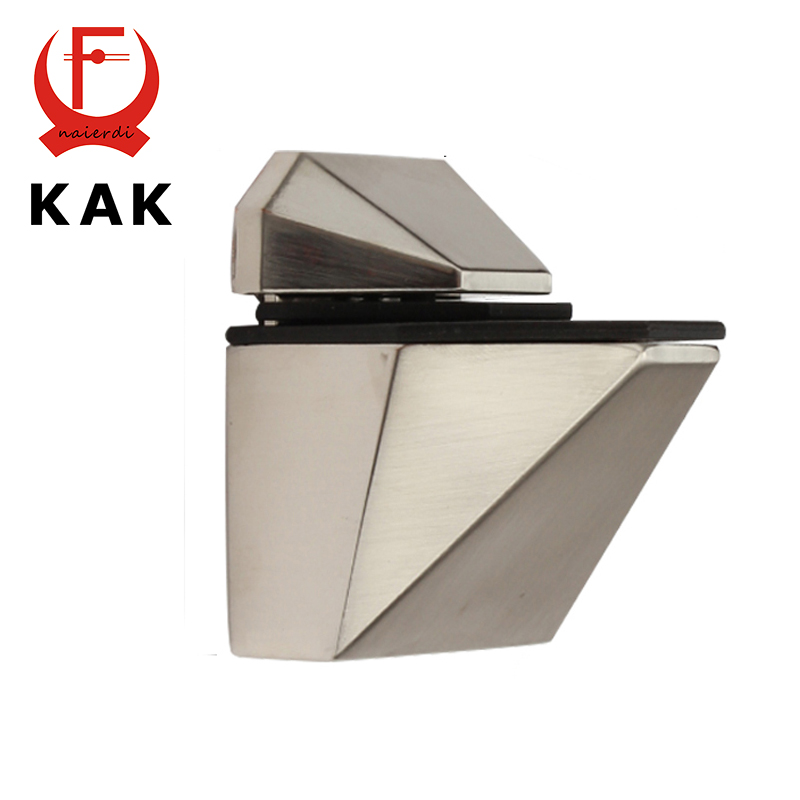 KAK-5808M Glass Clamp Zinc Alloy Fish Shape F Fixed Clamps Adjustable Type For Shelf Bracket Accessories Furniture Hardware