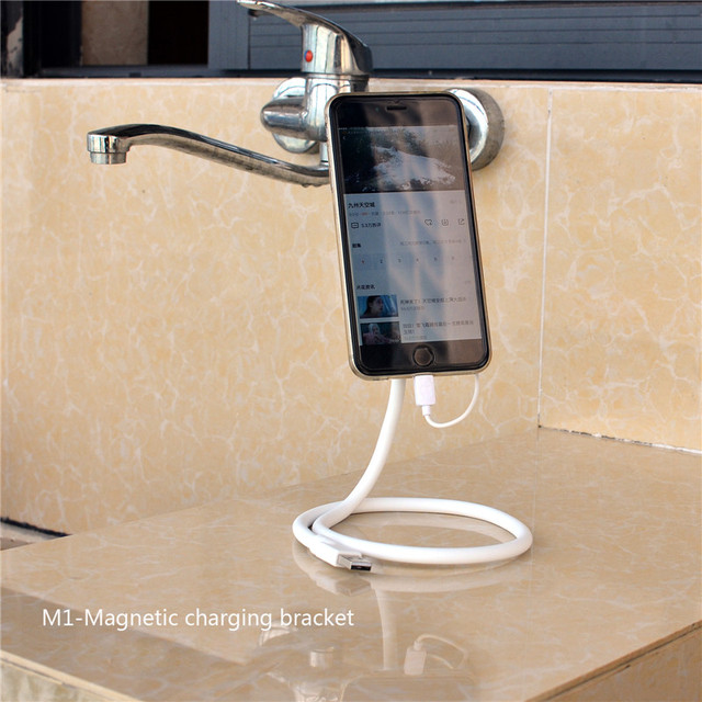 Cool 2-in-1 Charging Cable Magnetic Charging Bracket Holder For Apple Iphone S0C70 T66