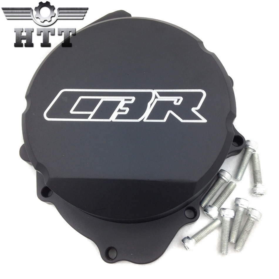 Aftermarket free shipping motorcycle parts  Billet  Engine Stator cover  Honda CBR600RR F5 2007-2012 07-12 BLACK left aftermarket free shipping motorcycle parts engine stator cover for honda cbr1000rr 2006 2007 06 07 black left side