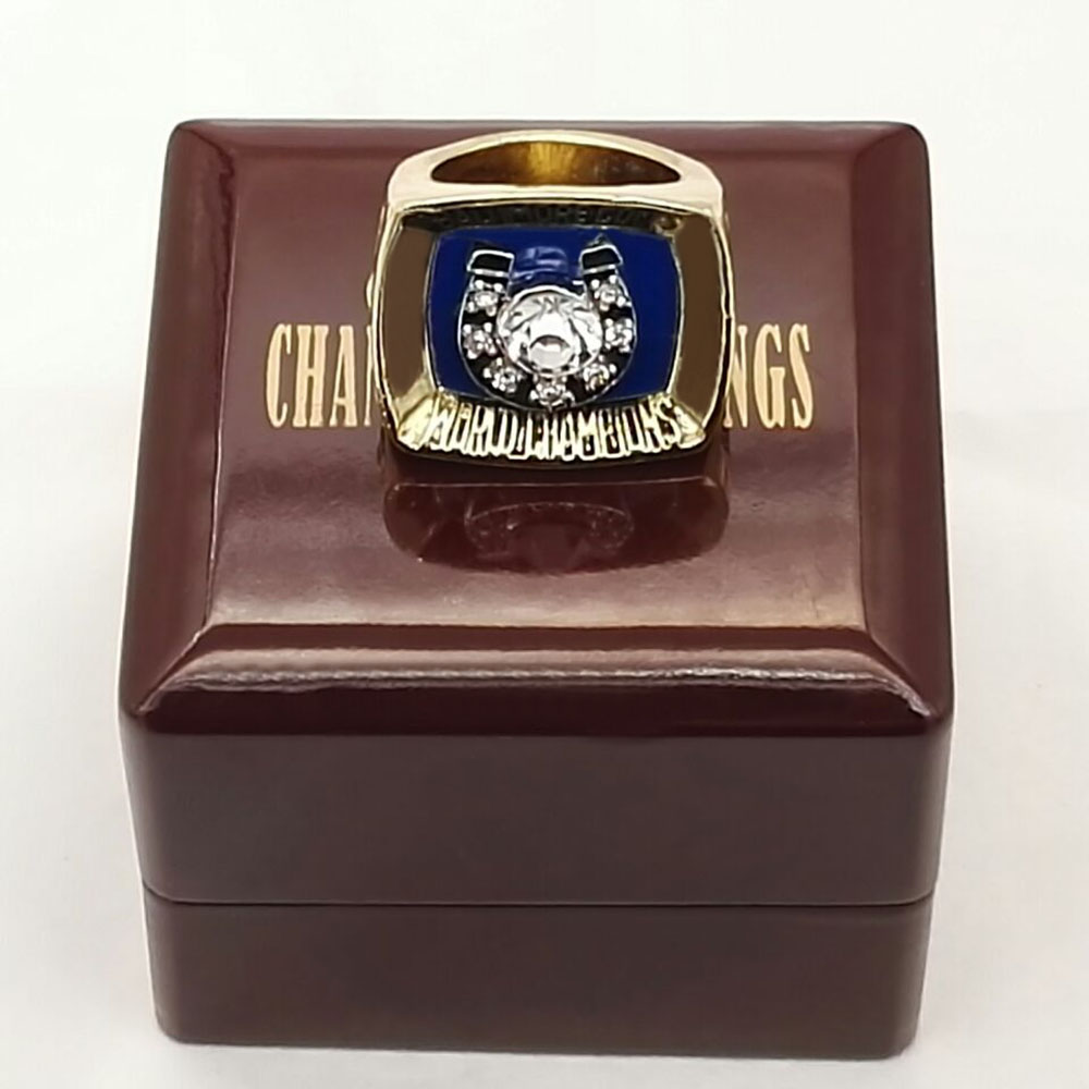 Wooden Boxes With 1970 Baltimore Colts Super Bowl Zinc Alloy silver plated Custom Sports Replica Fans World Championship Ring