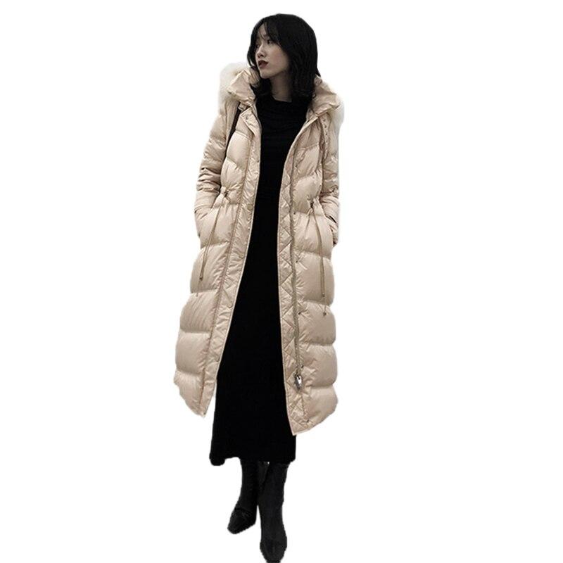 De Femmes Blanc Lady Épais Bas 2019 Canard Fourrure Le Nouvelle Pardessus Veste Mode Col Manteau Vers black Mince Capuche Fc16 D'hiver Longues Duvet À Apricot Chaud AHdqfnaUAw