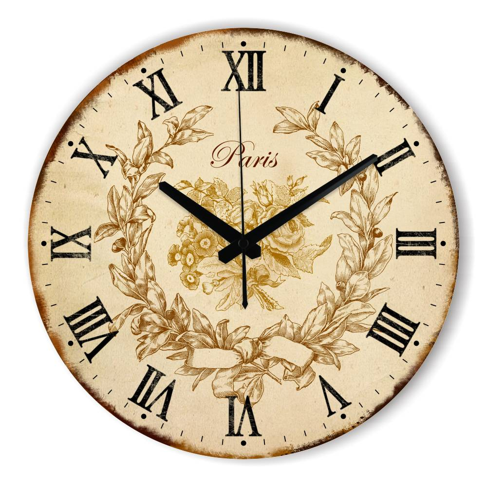 Europe Home Decoration Wall Clock Warranty 3 Years Vintage ...