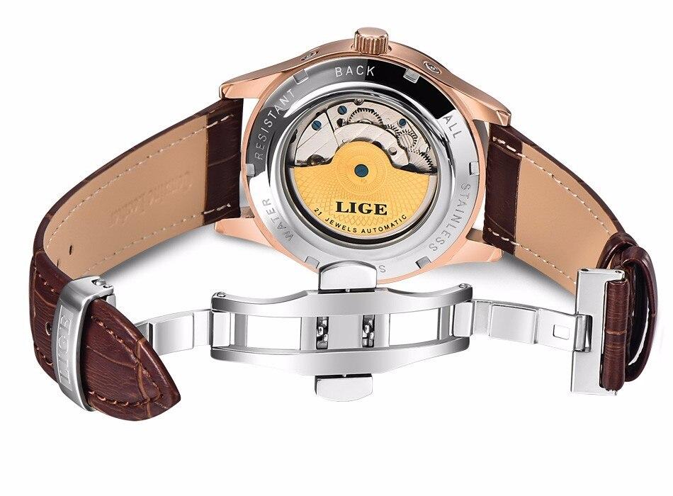 tourbillon esporte relógio de couro casual negócios retro relojes hombre