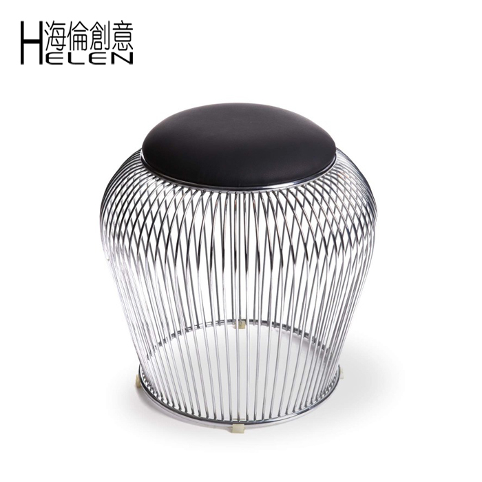 Fine Wire Ottoman Stool Chair Cage Wire Cage Chair Stool Chair Caraccident5 Cool Chair Designs And Ideas Caraccident5Info