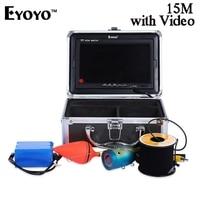 Eyoyo 15M 1000TVL Underwater Fish Finder Video Fishing Camera With Monitor Sun Visor Infrared IR