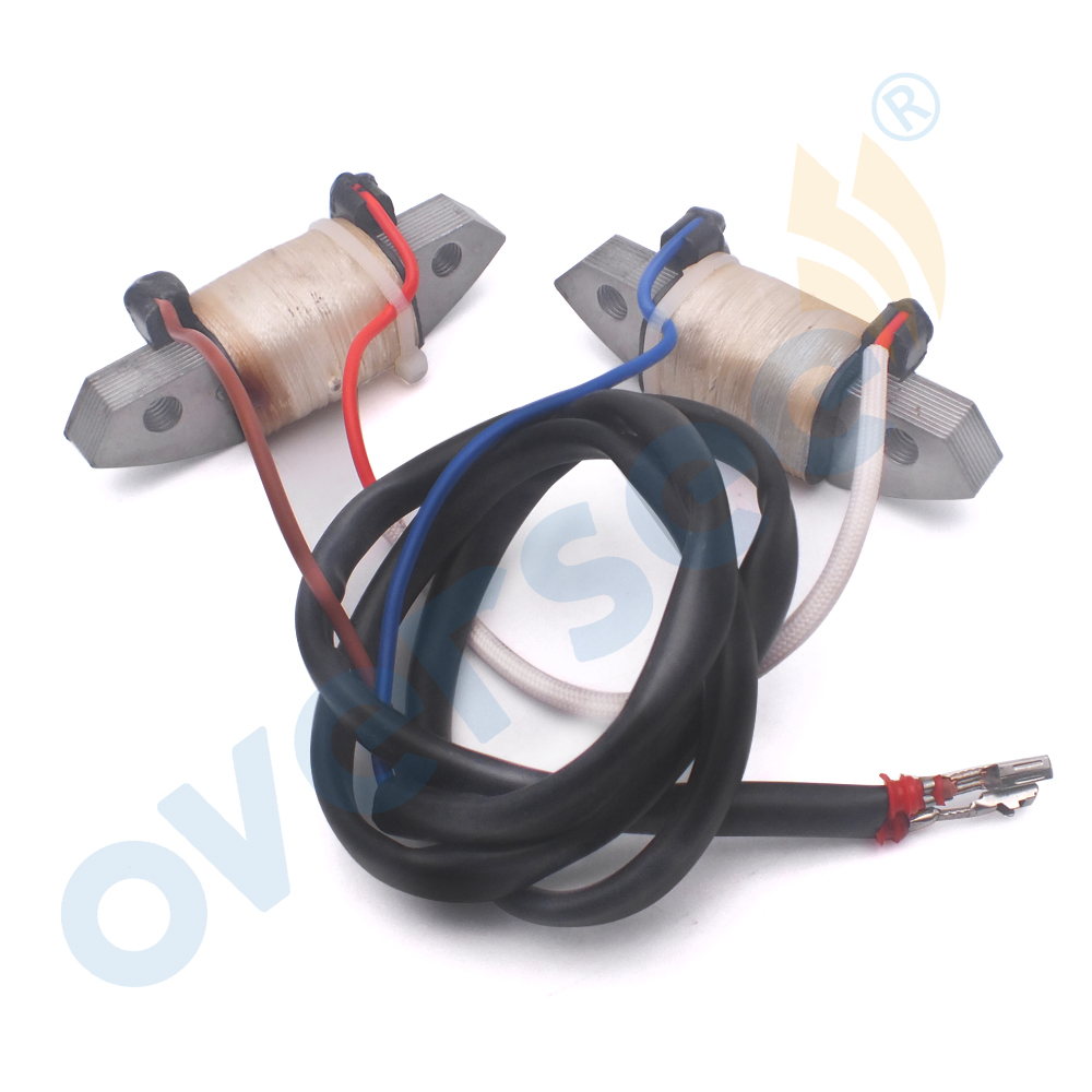 OVERSEE 66T-85520-00 Charge Coil Assy Replaces For 2 Stroke Parsun Hidea Powertec 38HP 40HP Yamaha Outboard Engine Parts dirty soap and timed disappearing bloody soap bars 2 pack