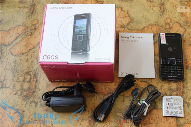 Refurbished phone Sony Ericsson C902 3G 5MP Bluetooh MP3 MP4 Player black 6