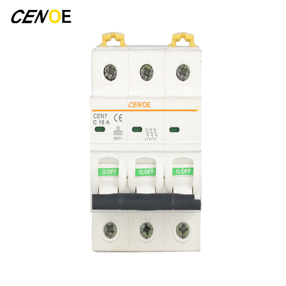 3p Head Switch Function 415vac 16a Mcb Mini Circuit Breaker With Short Appliances 16 1