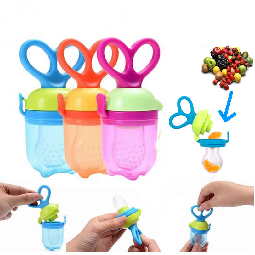 New Speen Silicone font b Baby b font Funny Pacifiers Nipple Feeding Food Fruits Holder Tool