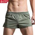 Marca superbody troncos homens boxer shorts de algodão de alta qualidade dos homens sexy underwear underwear gay homem pênis bolsa dos homens sleepwear