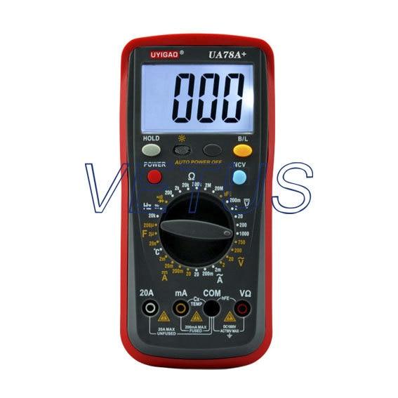 High quality LCD Digital Display AC DC Ohm Capacitance Meter Multimeter UA78A+ of high precision