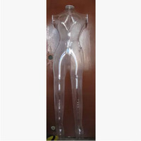Free Shipping!! New Arrival Inflatable Female Model Clear Inflatable Mannequin Transparent Manikin On Promotion