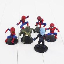 6Pcs lot Spider Man Figure The Spiderman Spider Man PVC Action Figure Toys 6 8cm Great