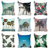 Summer Hawaii Tropical Sky Palm Tree Protea Print Custom Car Cushion Cover Decorative Pillowcase Pillow Case