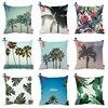 Summer Hawaii Tropical Sky Palm Tree Protea Print Custom Car Cushion Cover Decorative Pillowcase Pillow Case