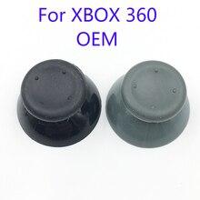 20 piezas Botón del mando de goma para XBox 360, negro y gris