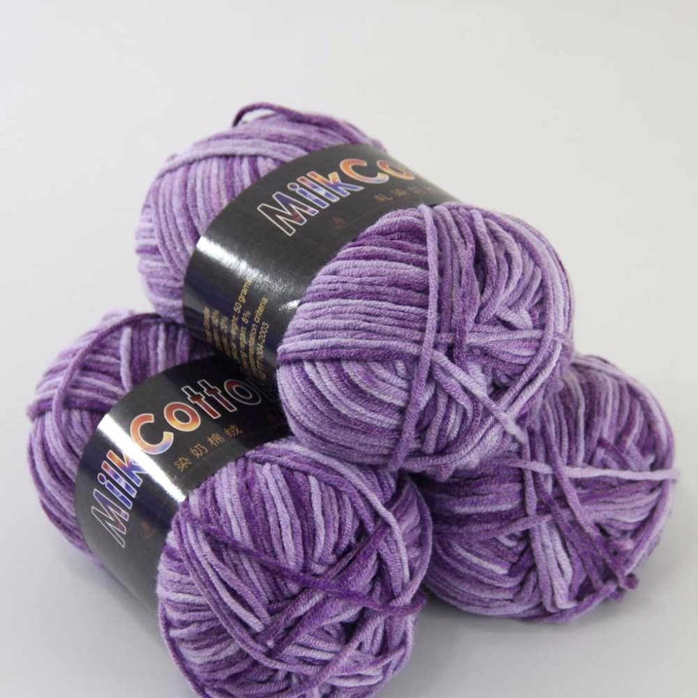 Sale 3ballsx50g Soft Cotton Baby Yarn New Hand Dyed Wool