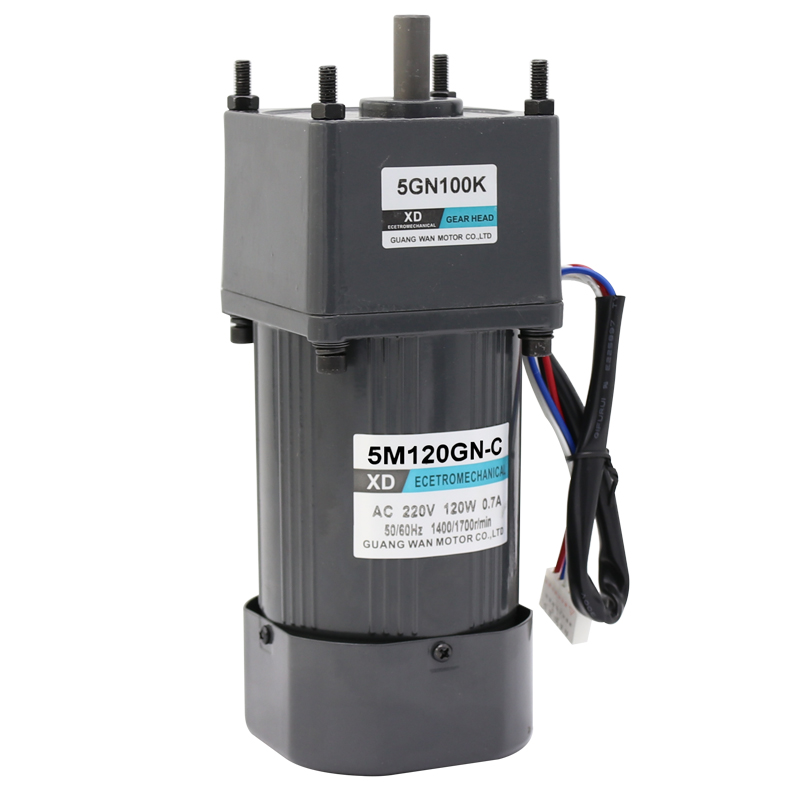 120W AC gear reduction motor 220V single - phase speed control motor micro slow forward and reverse motor 40w ac 220 240v 50 60hz low rpm gear reducer motor and speed controller cw ccw reverse forward motor variable speed optional