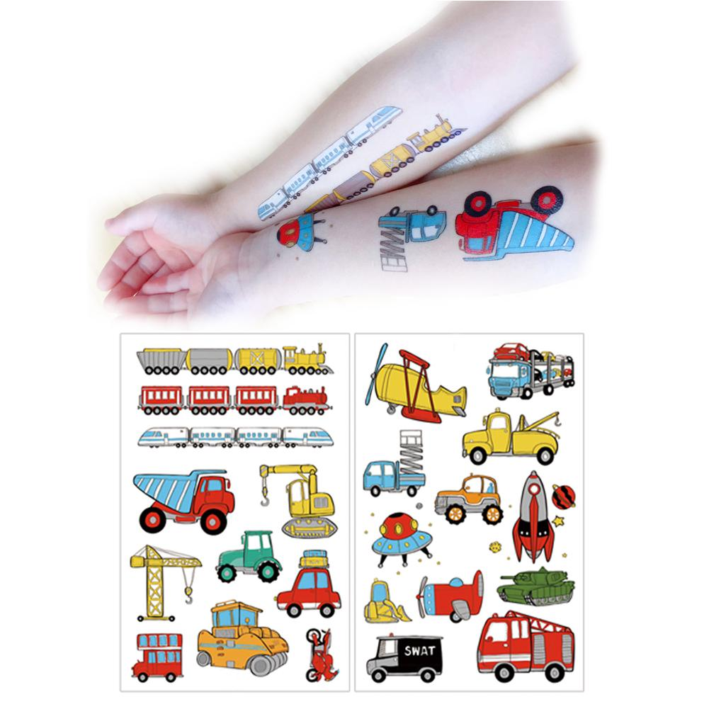 Child Tattoo Stickers Cute Cartoon Waterproof Non toxic Arm Face Stickers Puffy Kids Stickers For Children Scrapbooking in Stickers from Toys Hobbies