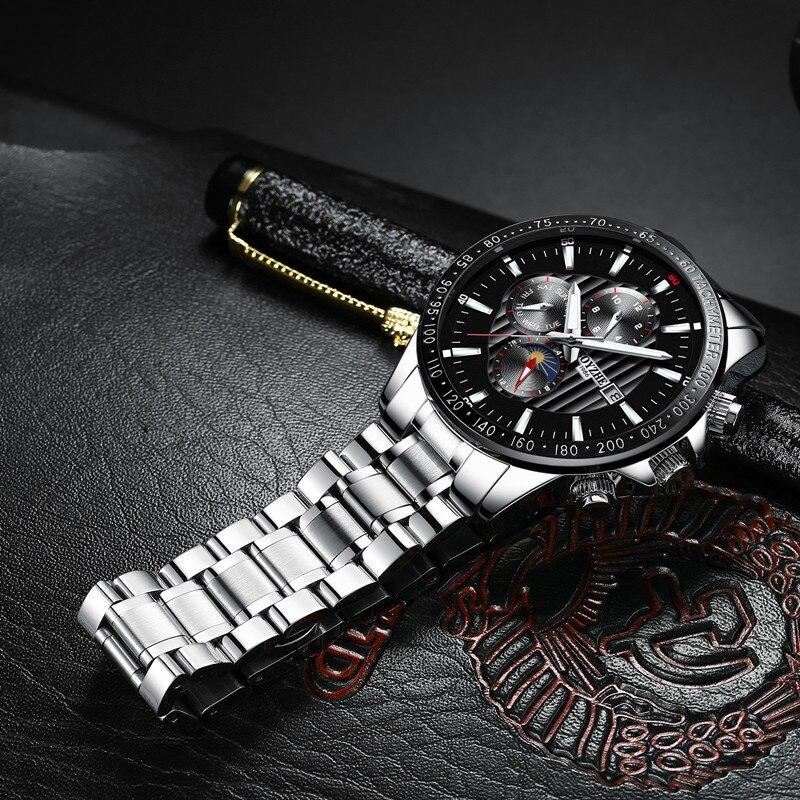 オリジナル BOYZHE ファッション多機能メンズ腕時計トップブランド腕時計自動男性 24 時間カレンダー週発光機械式時計  グループ上の 腕時計 からの 機械式時計 の中 2