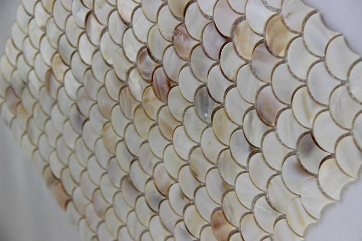 Aliexpress.com : Buy fish scale fan shape shell mosaic mother of pearl  tiles natural color kitchen backsplash bathroom wall shell mosaics tile  from Reliable ...