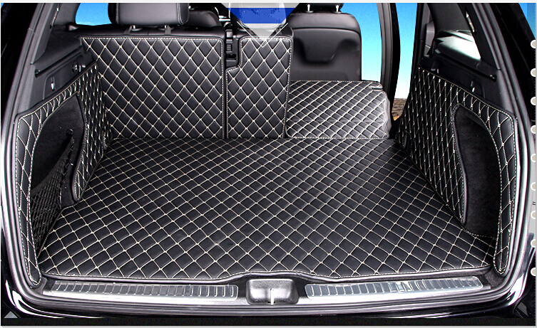 Special car trunk mats wholy surrounded for Mercedes GLC 300 2016 waterproof durable boot carpets for Benz GLC300 2015