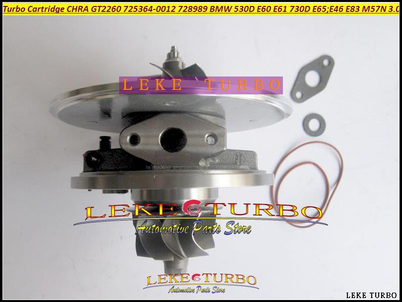 Turbo cartridge chra Turbocharger Core GT2260V 725364 725364-5018S 728989 11657789083 7789083 7789081 For BMW 530D E60 E61 214HP turbo cartridge chra core gt2556v turbine repair parts for bmw 730 d e38 m57 d30 184hp 193hp 454191 5017s 454191 0003 454191