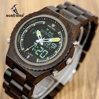 BOBO BIRD V P02 Watches Men High Quality Wood Digital Night Vision Male Wristwatch With Week