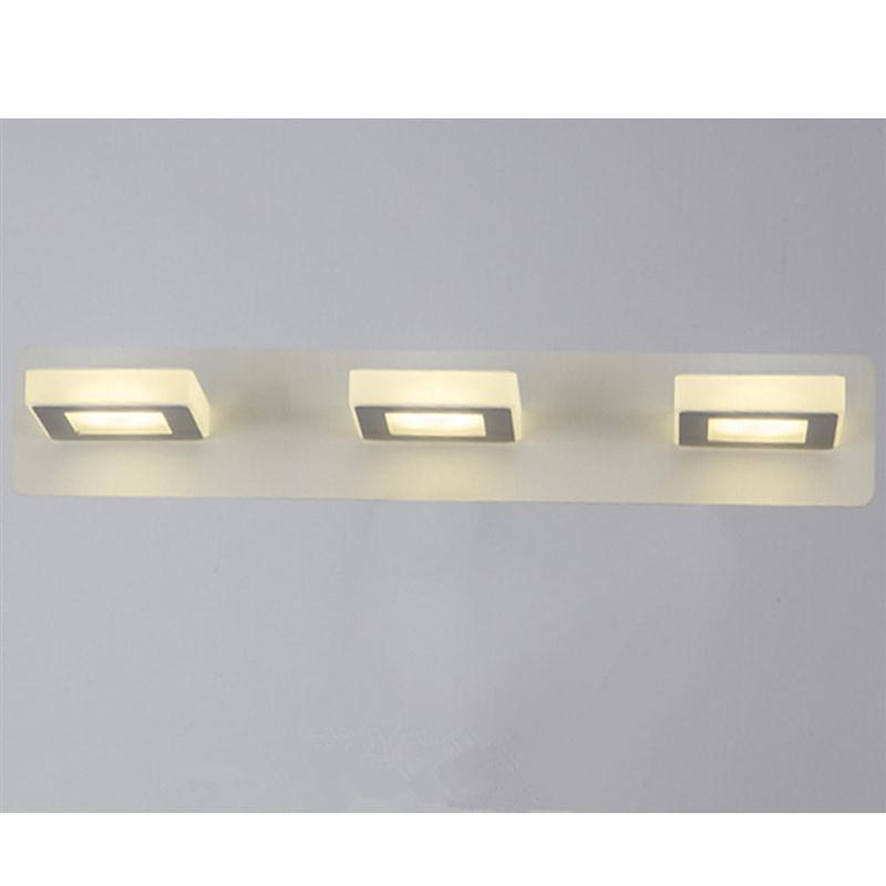 ФОТО Bathroom Light Fixtures Led 15W Acrylic Cube Bath Wall Sconces Light (Neutral Light)  Lamp Banheiro LED Bathroom Light Wall Lamp
