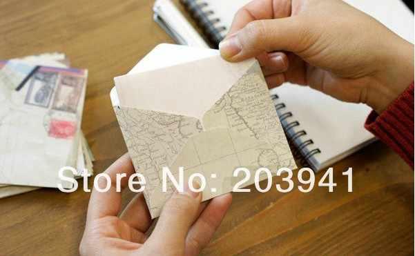 12 pçs/lote 100*80mm Novo estilo Europeu Do Vintage envelope mini escola material de escritório