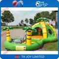 Tema de la selva gorila inflable para los niños/gorila al aire libre con piscina de bolas